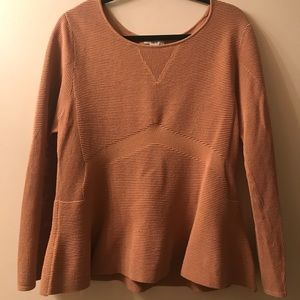 Bar III Tan Peplum Sweater
